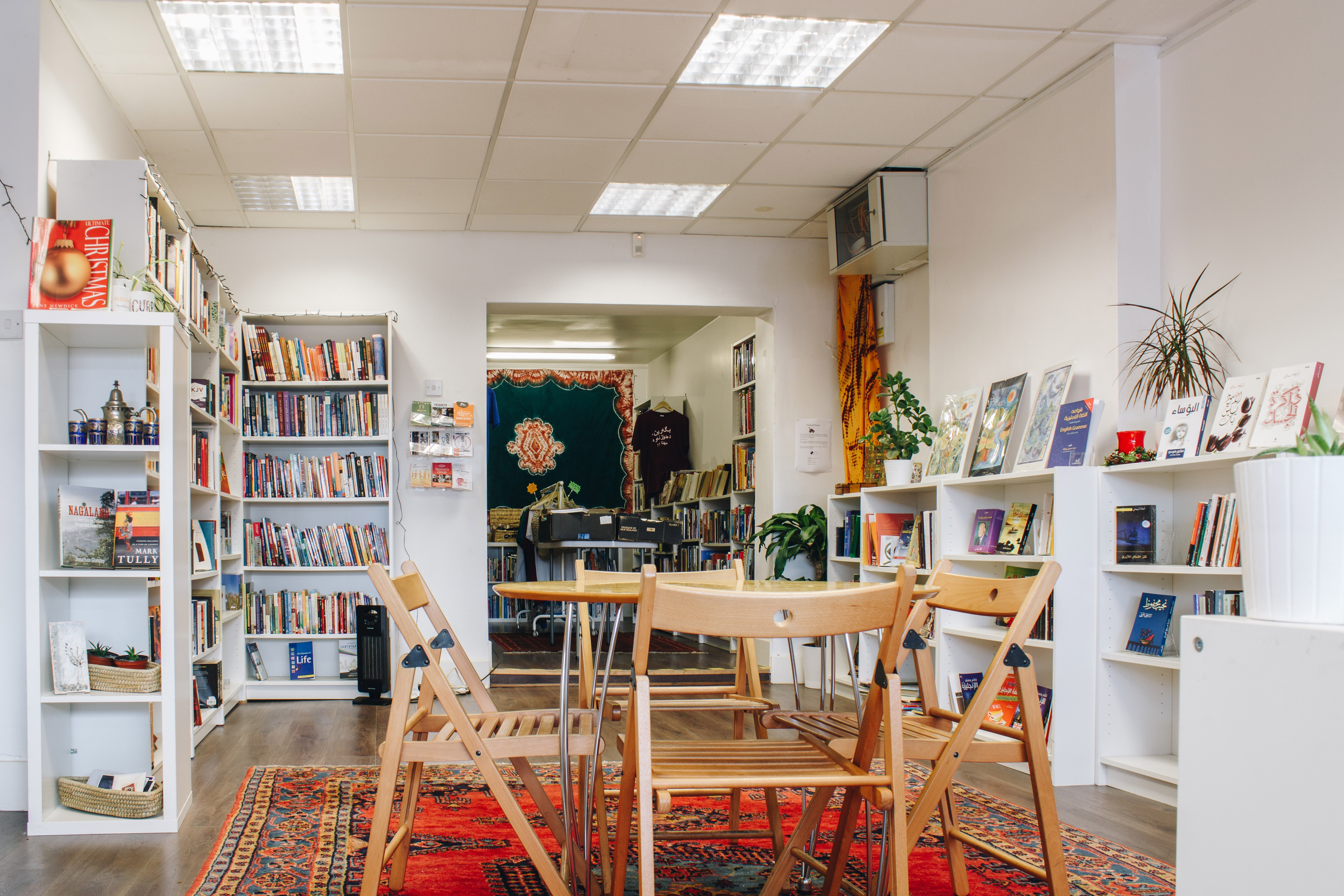 Inside Alexandria Library bookshop